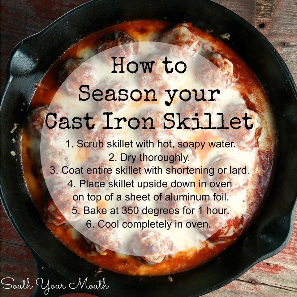 How to season your cast iron skillet