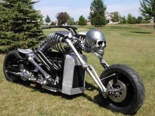 Moto esqueleto.