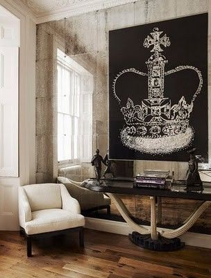 Crown on  wall floor design house decoration baroque decoracion vintage chic also whimsy  home pinte rh pinterest