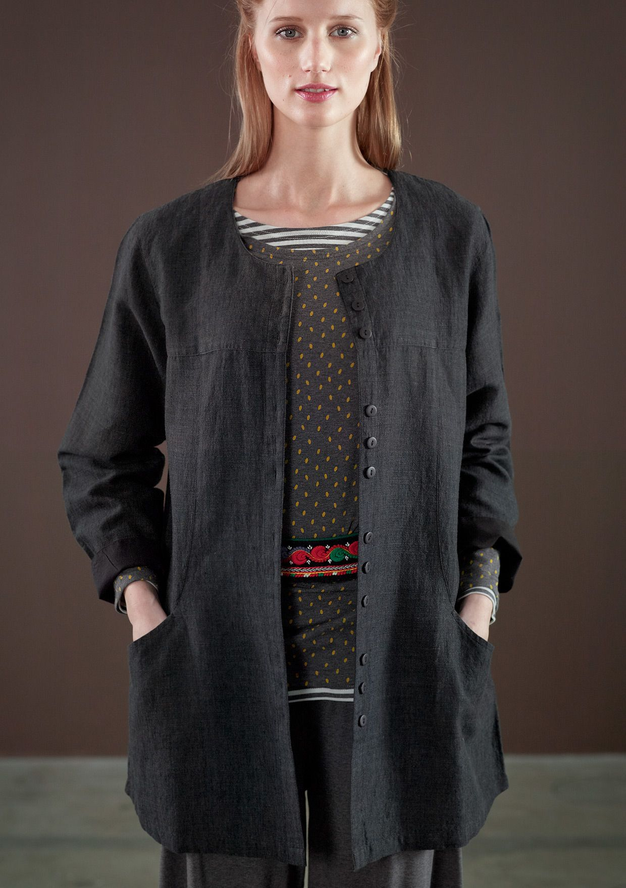 Jacket in linen & cotton – Weaves – GUDRUN SJÖDÉN – Webshop, mail order and boutiques | Colourful clothes and home textiles in natural materials.