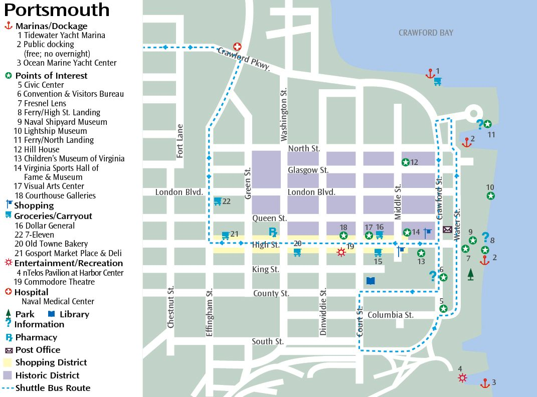Portsmith Virginia Map.Downtown Portsmouth Virginia Portsmouth Va Shore Things