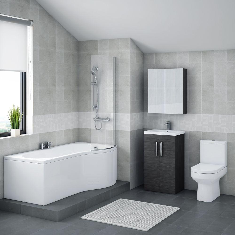 Brooklyn Hacienda Black Bathroom Suite + B-Shaped Bath | Haciendas ...