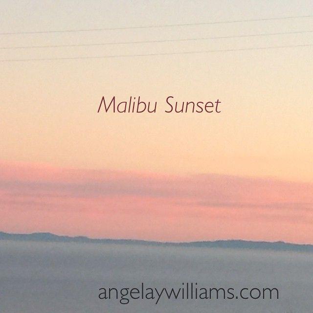 """Have a beautiful evening! Much Love & Joy ~ Angela xo #FirstInstagramPost #SunsetMeditation #Malibu"" Photo taken by @angelaywilliams on Instagram, pinned via the InstaPin iOS App! http://www.instapinapp.com (01/22/2015)"