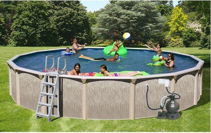 Family Outdoor Pool 24 X 52 Round Above Ground Outdoor Backyard Swimming Set Sitzecken Garten Pool über Dem Boden Malediven