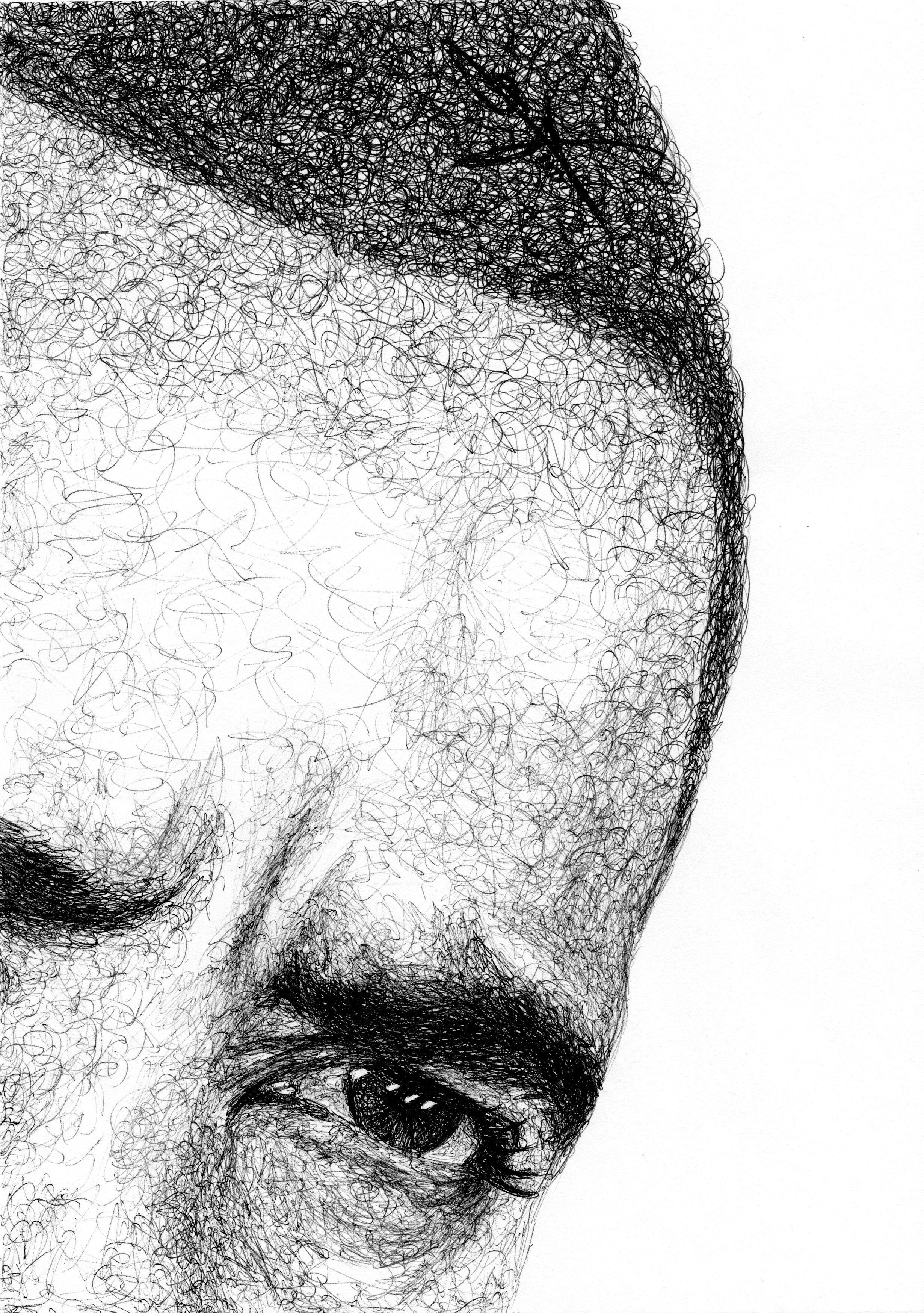 Dibujo nº 2 de Barack Obama para la exposición JUGARABATOS ...
