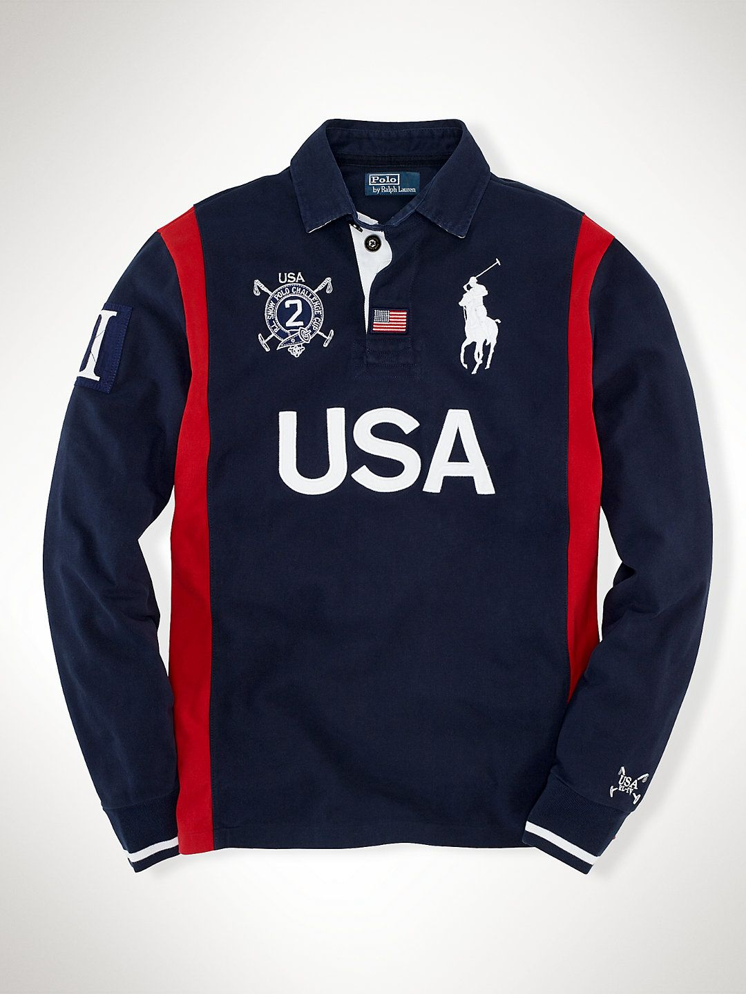 Sleeved Rugbys Custom MenDudes Usa Long Rugby bvYf7gy6