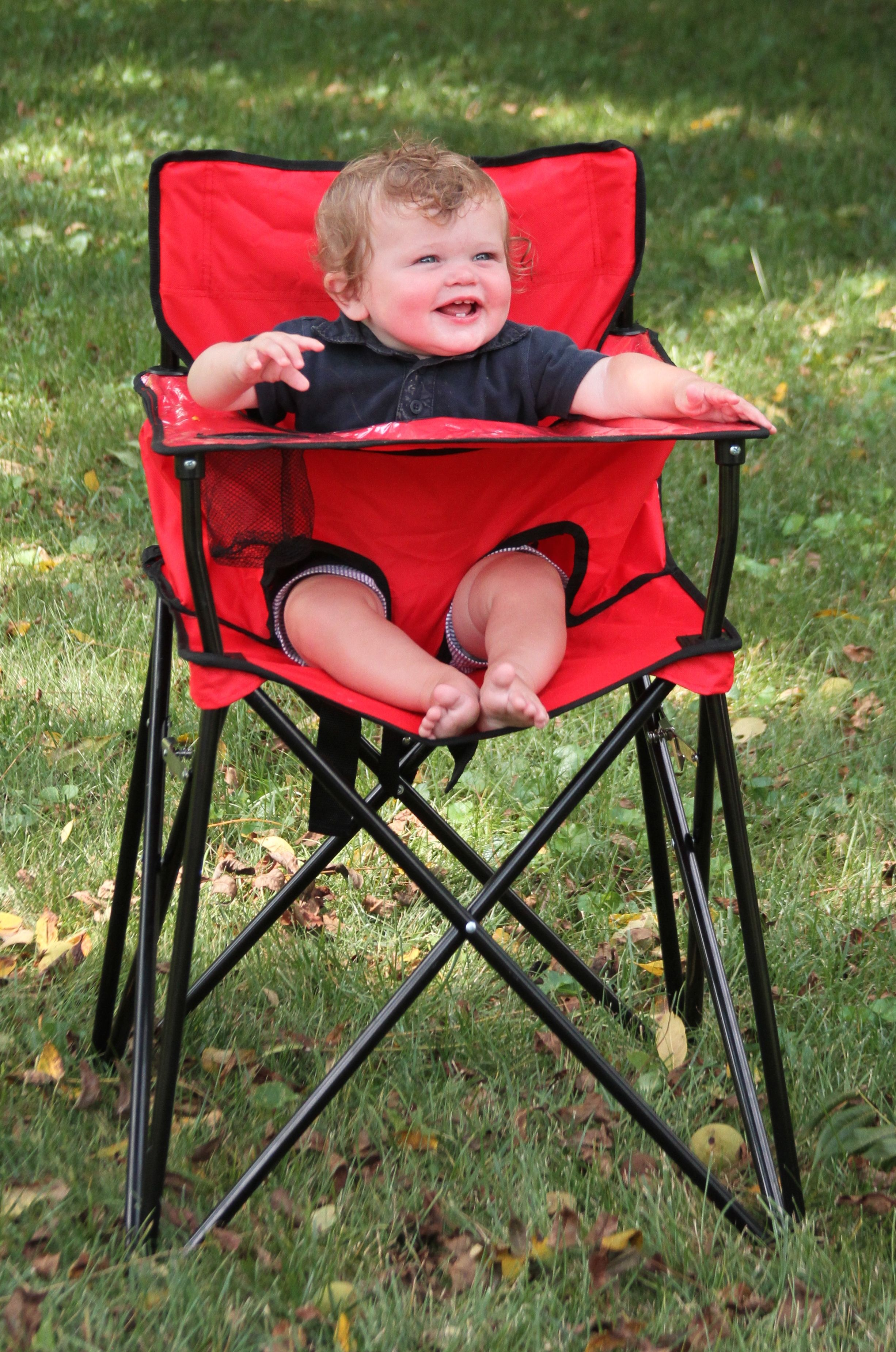 First High Chair Invented Adirondack Rocking Chairs Lowes Portable Oh My Goodness This Is The Best Invention Ever It S Perfect For Picnics Camping Traveling Or Even Just Visits To Grandma