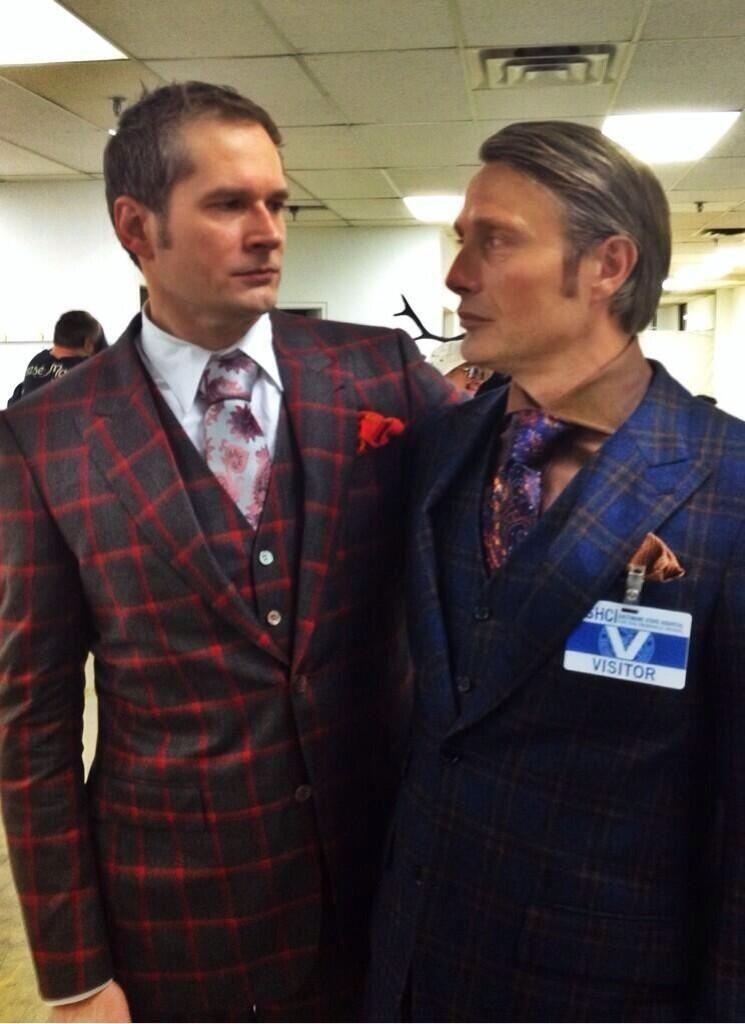 Brian Fuller cosplaying Hannibal