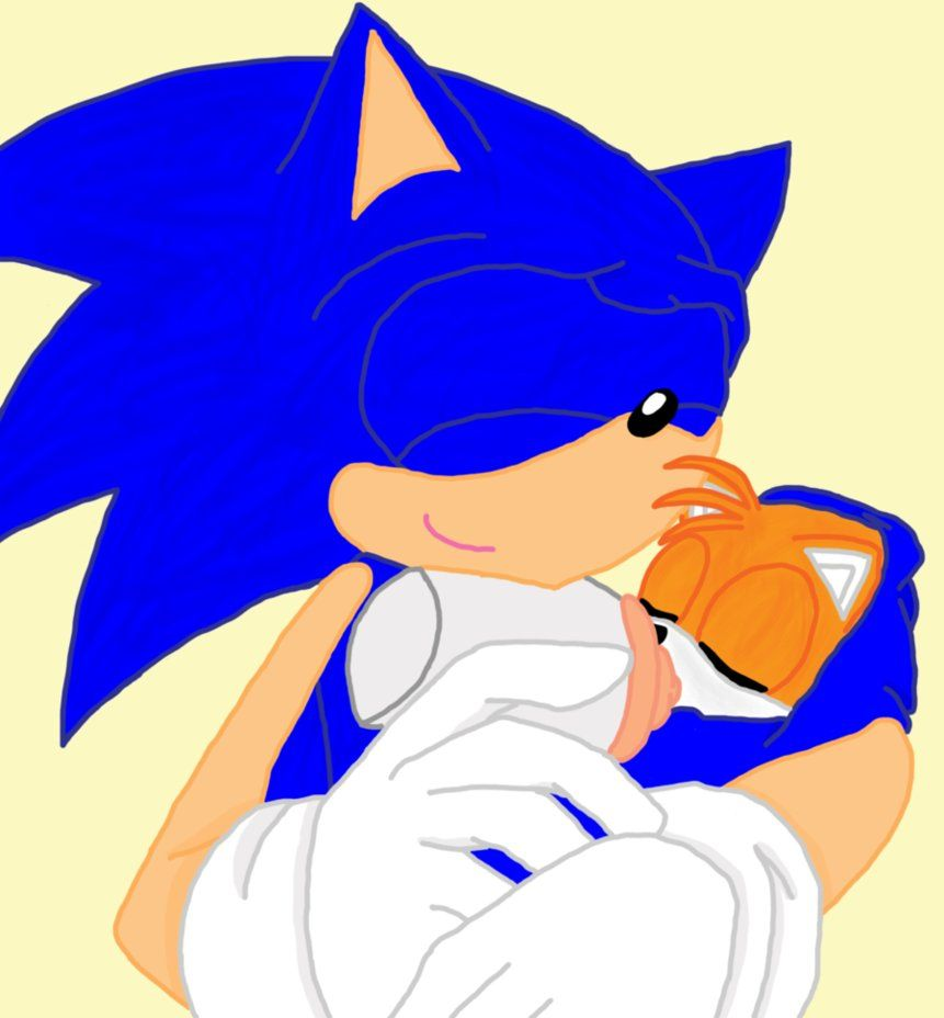 Sonic And Baby Tails 1 By Chibialvin On Deviantart Sonic Tailed Baby Crying