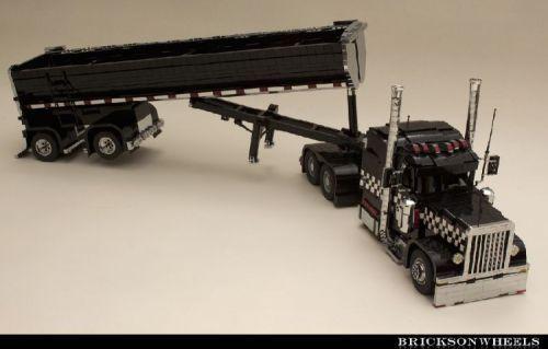 Peterbilt 379 Black Cat Lowrider A Lego Creation By Bricksonwheels
