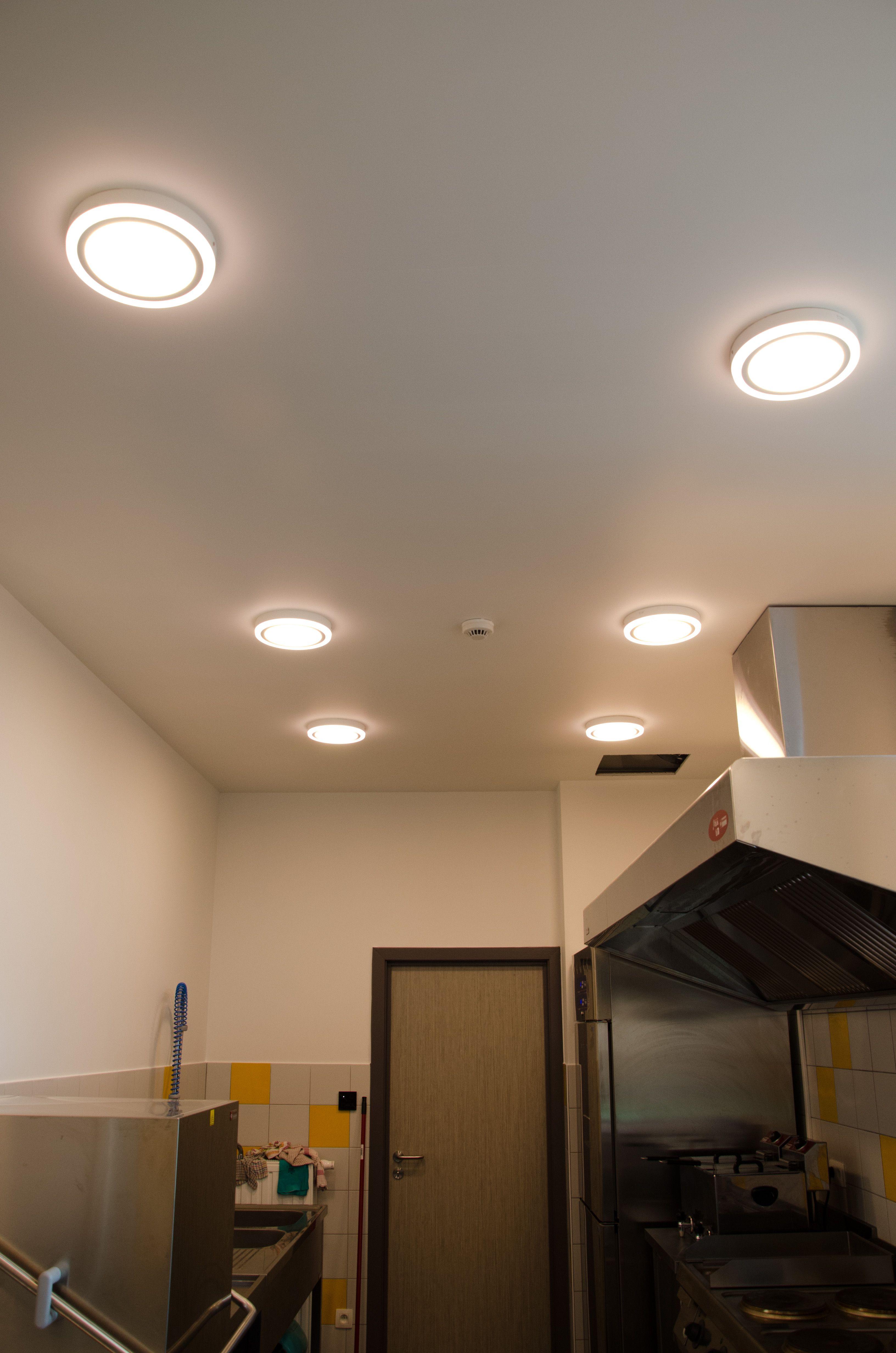 Opbouwverlichting LED rond voor keuken, berging,slaapkamers, gang ...