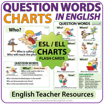 question words in english esl wall chart flash cards this or