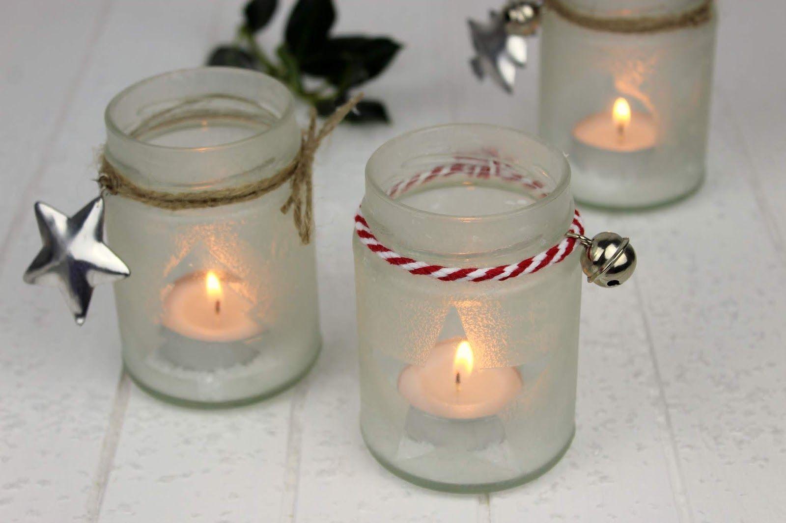 Diy Wunderschöne Weihnachtsdeko Eisblumen Windlichter Ganz