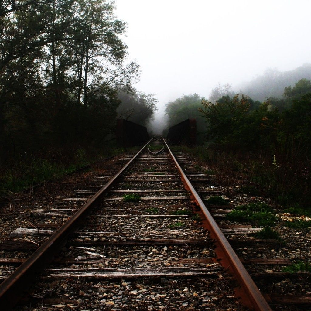 Wallpapers Of Trains: Old Train Track #iPad #Wallpaper
