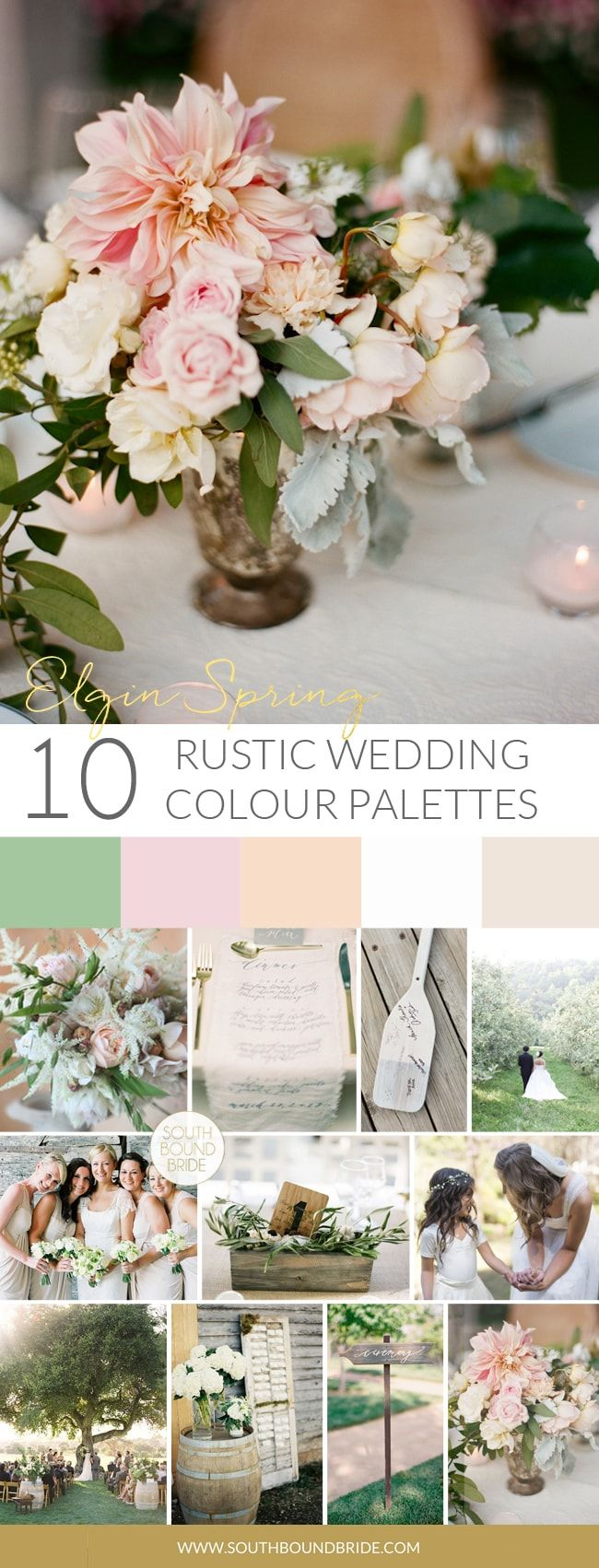 10 Rustic Wedding Color Palettes Wedding Themes Rustic Rustic Wedding Colors Spring Wedding Colors