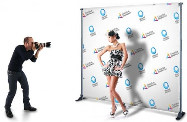 Step & repeat banner with frame - perfect for parties, bar/bat ...
