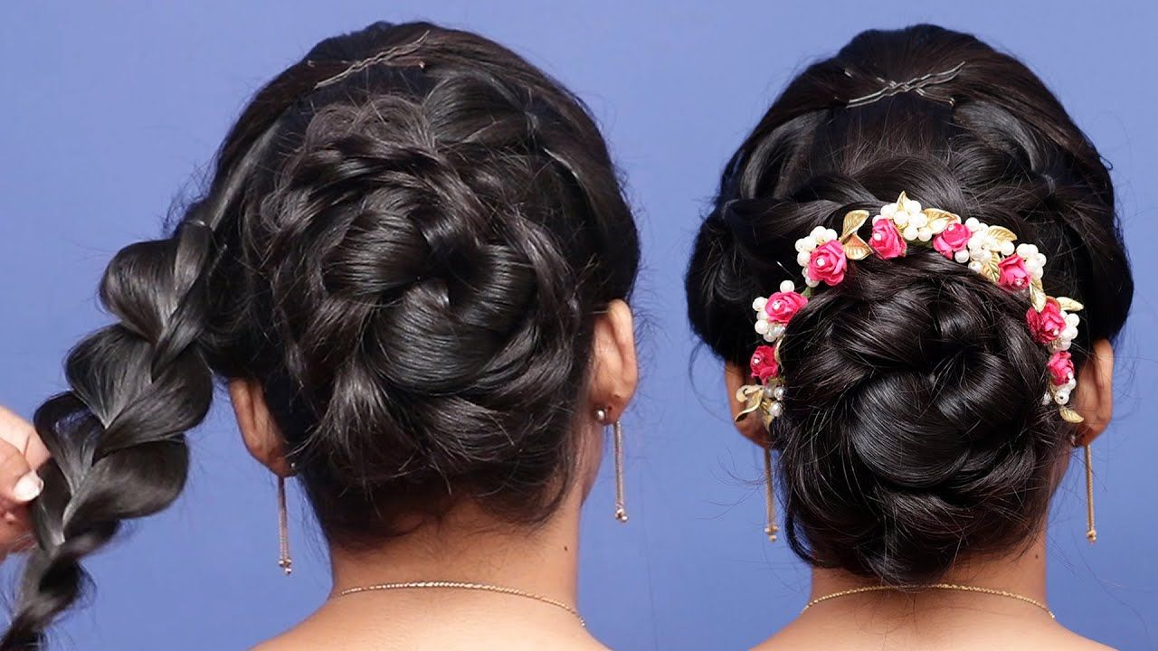 new latest Juda hairstyle || cute hairstyles || simple hairstyles || bun... | Easy bun ...