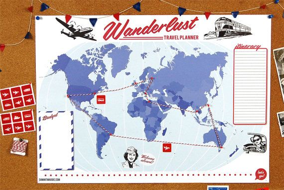 Wanderlust travel planner surely this is the coolest and most wanderlust travel planner surely this is the coolest and most retro way to plan gumiabroncs Image collections