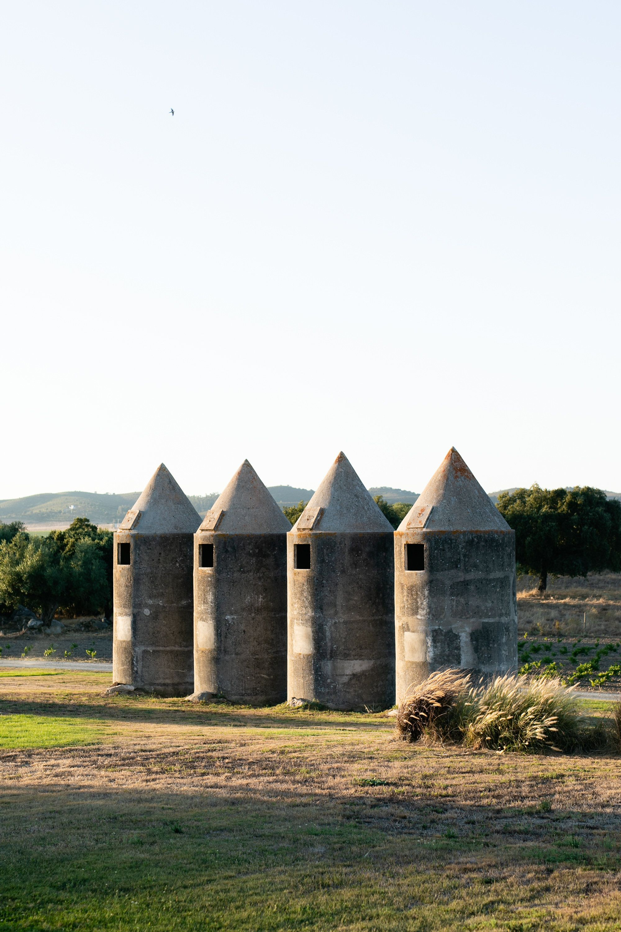 The Silos Were Structures Created To Store Grain In The Wintertime