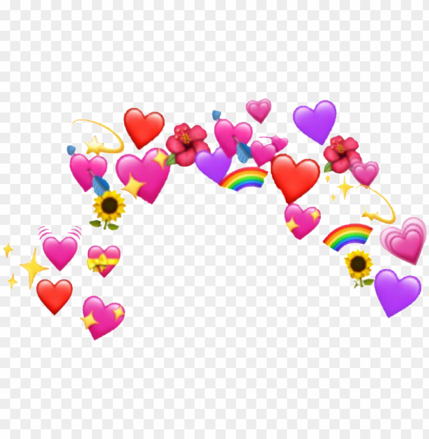 Heart Sticker Emoji Heart Crown Png Image With Transparent Background Png Free Png Images Crown Png Emoji Backgrounds Heart Stickers
