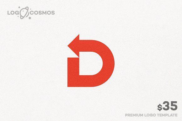 Direction Letter D Arrow Logo Znaki