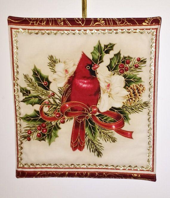 Christmas Cardinal Door Hanging - Wall Hanging - Holidays Home Decor - Christmas Wall Decoration - & Christmas Cardinal Door Hanging - Wall Hanging - Holidays Home ... pezcame.com