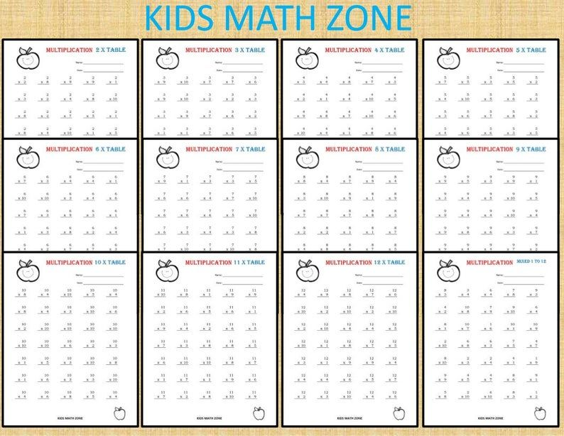 141 Multiplication Printable Worksheets for 2nd Grade to