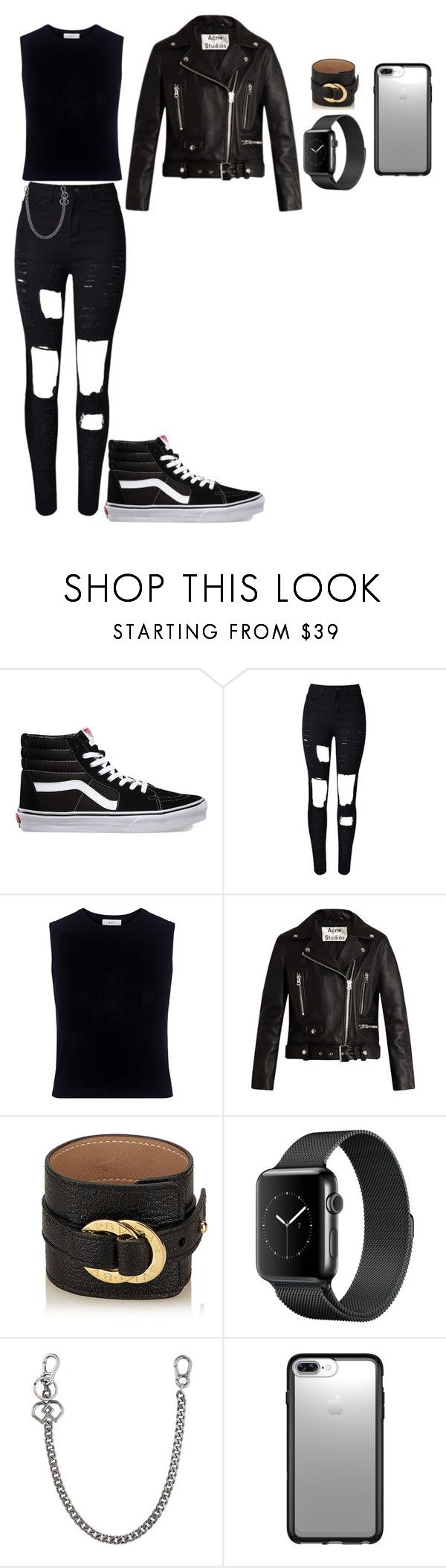 """""""Punk Non-binary Aesthetic"""" by principehayden on Polyvore featuring Vans, WithChic, A.L.C., Acne Studios, Bulgari, Dsquared2 and Speck"""
