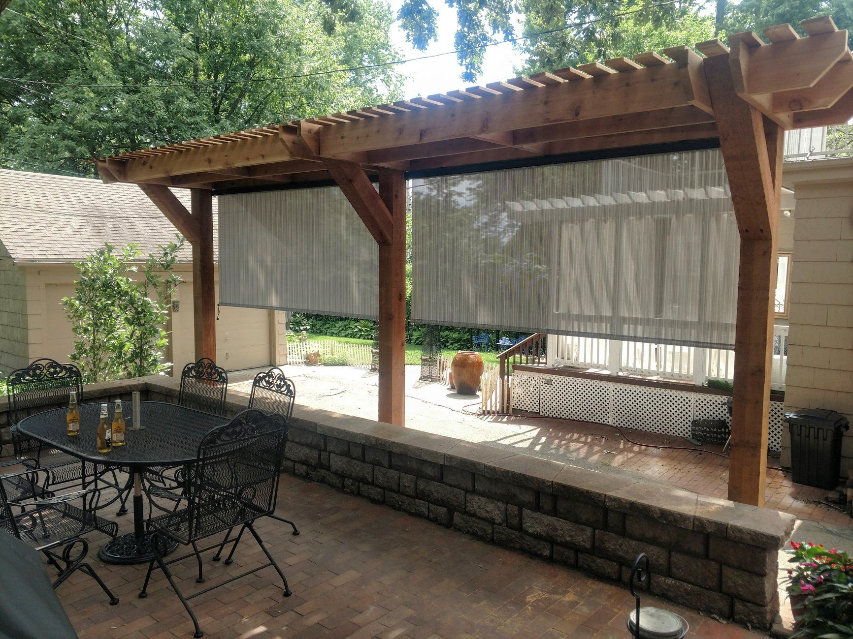 Might be a great way to not have a roof over the back deck ... on Life Outdoor Living Block id=38212