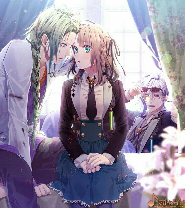 Heroine, Ikki, Ukyo, couple, sitting, cute; Amnesia Memories