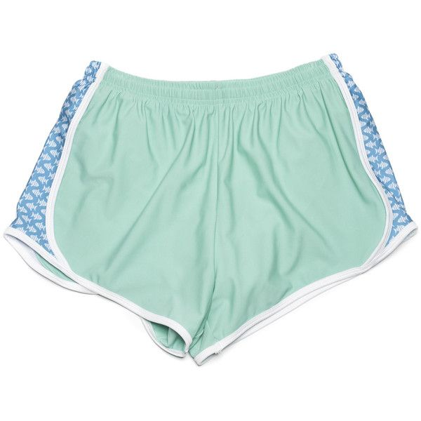 PREP SCHOOLS (SEAFOAM) ($40) ❤ liked on Polyvore featuring shorts