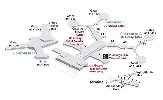 Terminal Map Las Vegas Terminal Maps Travel Pinterest - Us airways center map