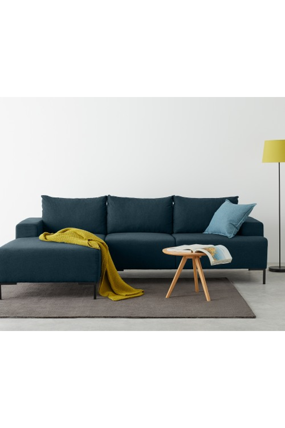 Made Aegean Blue Corner Sofa In 2020 Blue Corner Sofas Sofa Corner Sofa