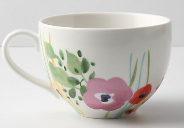 Delighted Momma: DIY Anthropologie Painted Mug