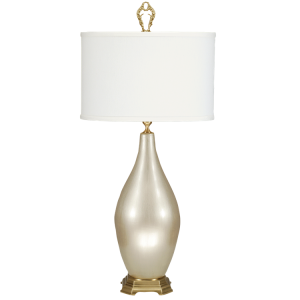 Sleek champagne lamp, home, decor, accessories, lamps, lighting.