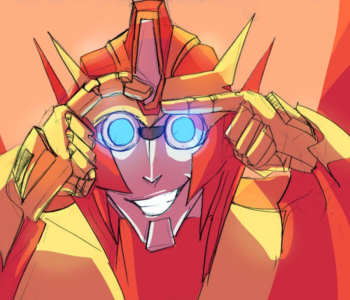 Rodimus, give Rung his glasses back! Yes, you look absolutely adorable, but those are Rung's