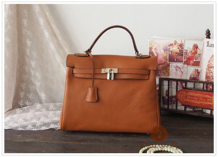 18001875dd933a Handmade Leather Tote Bag - Shoulder Bag - Satchel - Handbag - Leather  messenger in Retro Brown. $119.00, via Etsy.