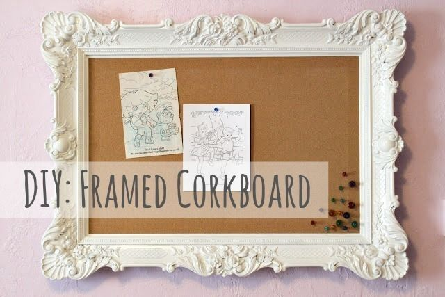 Diy Framed Corkboard Multipurpose Wall Decor Framed Cork Board