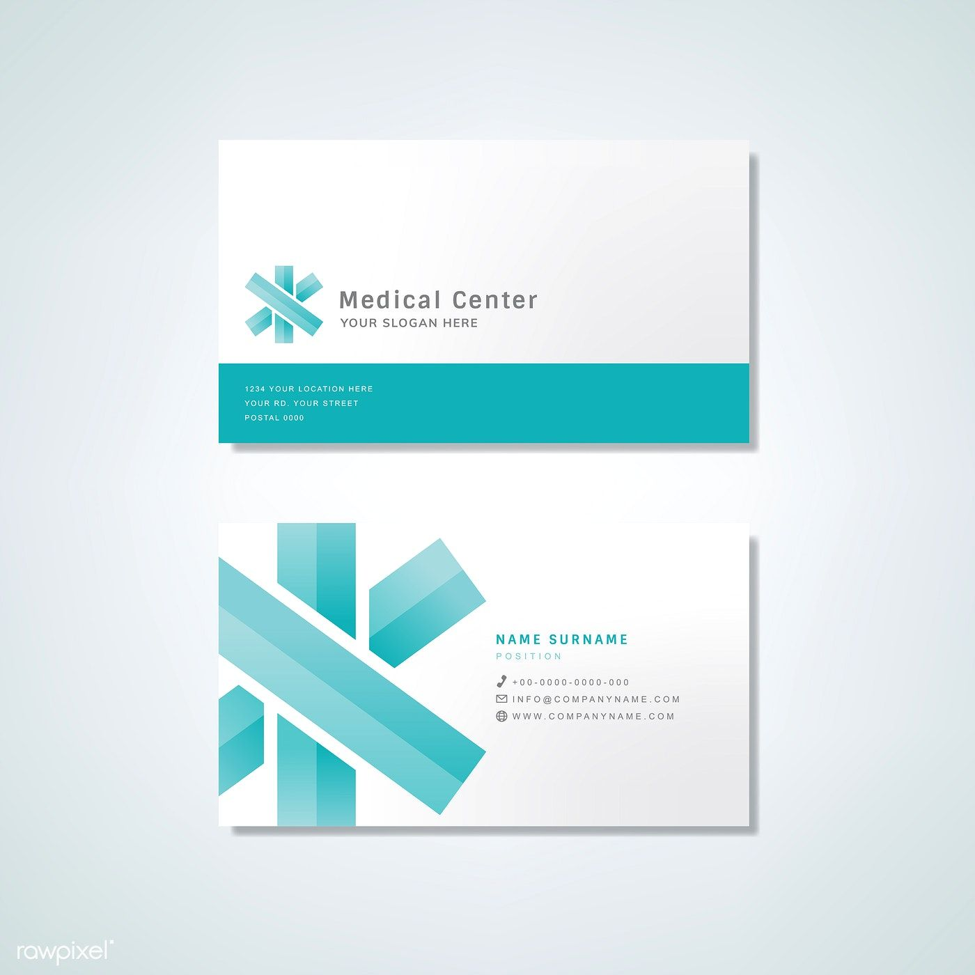 Medical Professional Business Card Design Mockup Free Image By Rawpixel Com Professional Business Card Design Medical Business Card Business Card Design