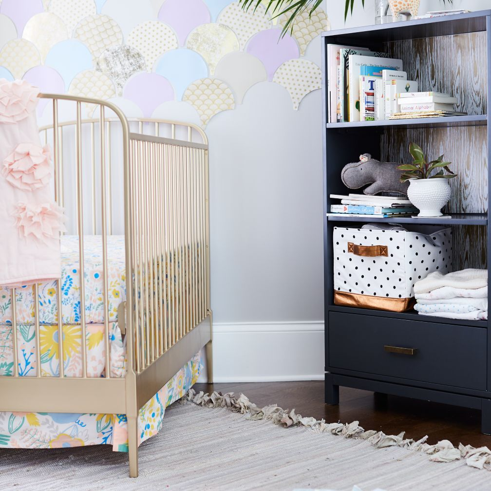 Larkin Gold Metal Baby Crib | The Land Of Nod