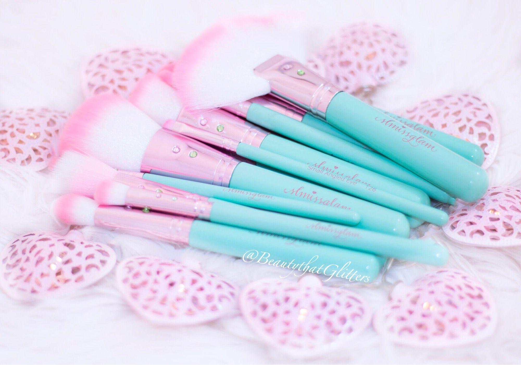 10 piece unicorn ombré makeup brush set NWT Pink makeup