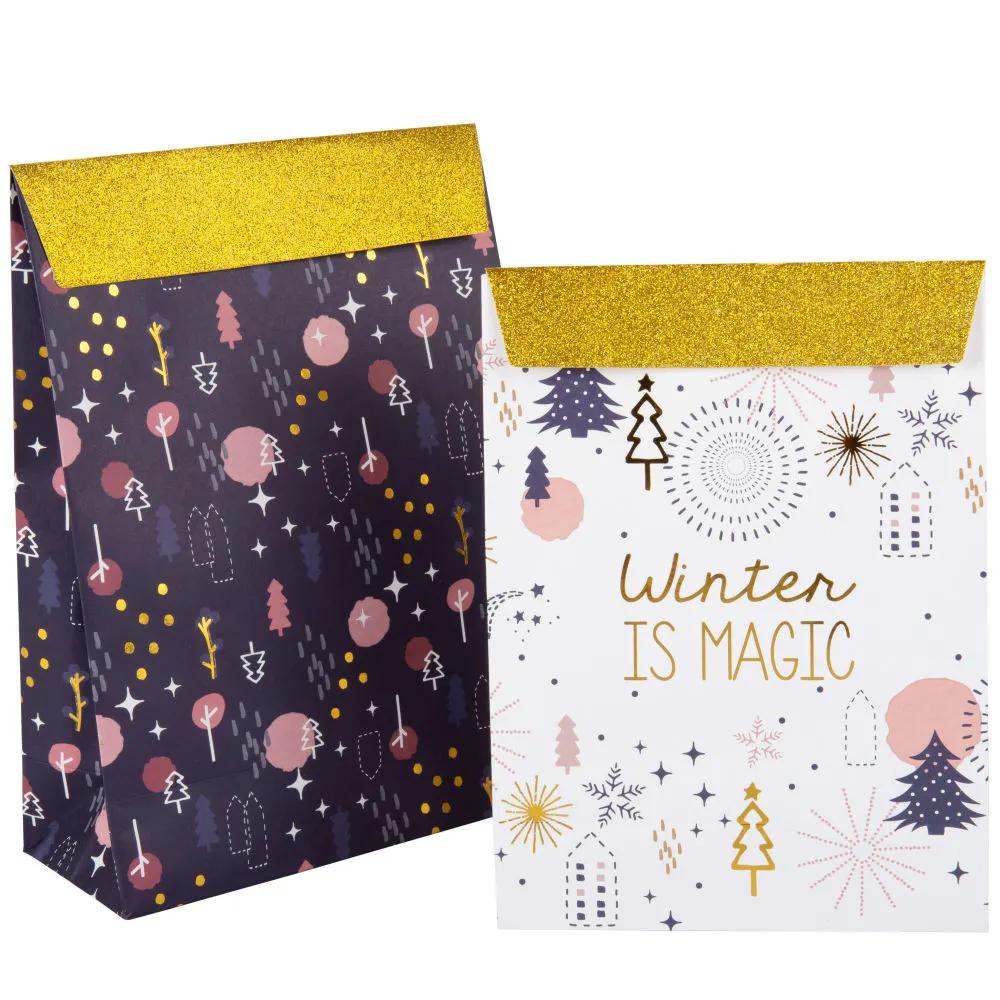 Pochette Cadeau En Papier Imprime X2 Maisons Du Monde Cadeaux En Papier Pochette Cadeau Bon Cadeau