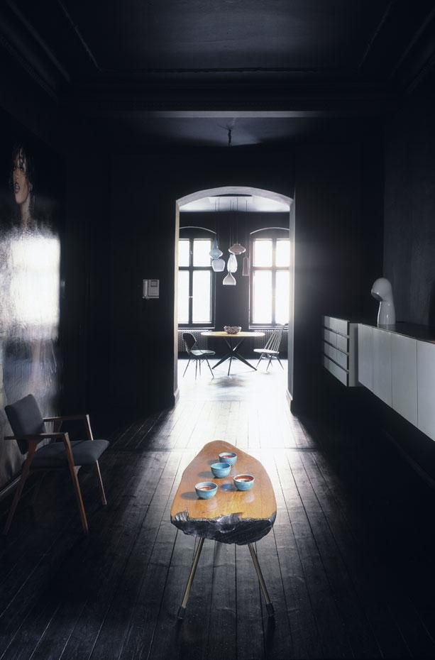 black living space