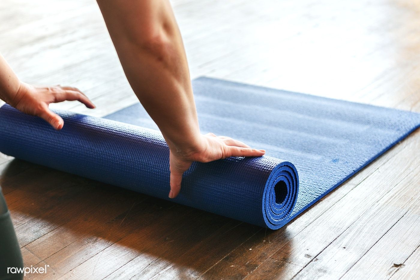 Rolling Up A Yoga Mat After Class Free Image By Rawpixel Com Teddy Rawpixel Yoga Images Free Yoga Classes Yoga