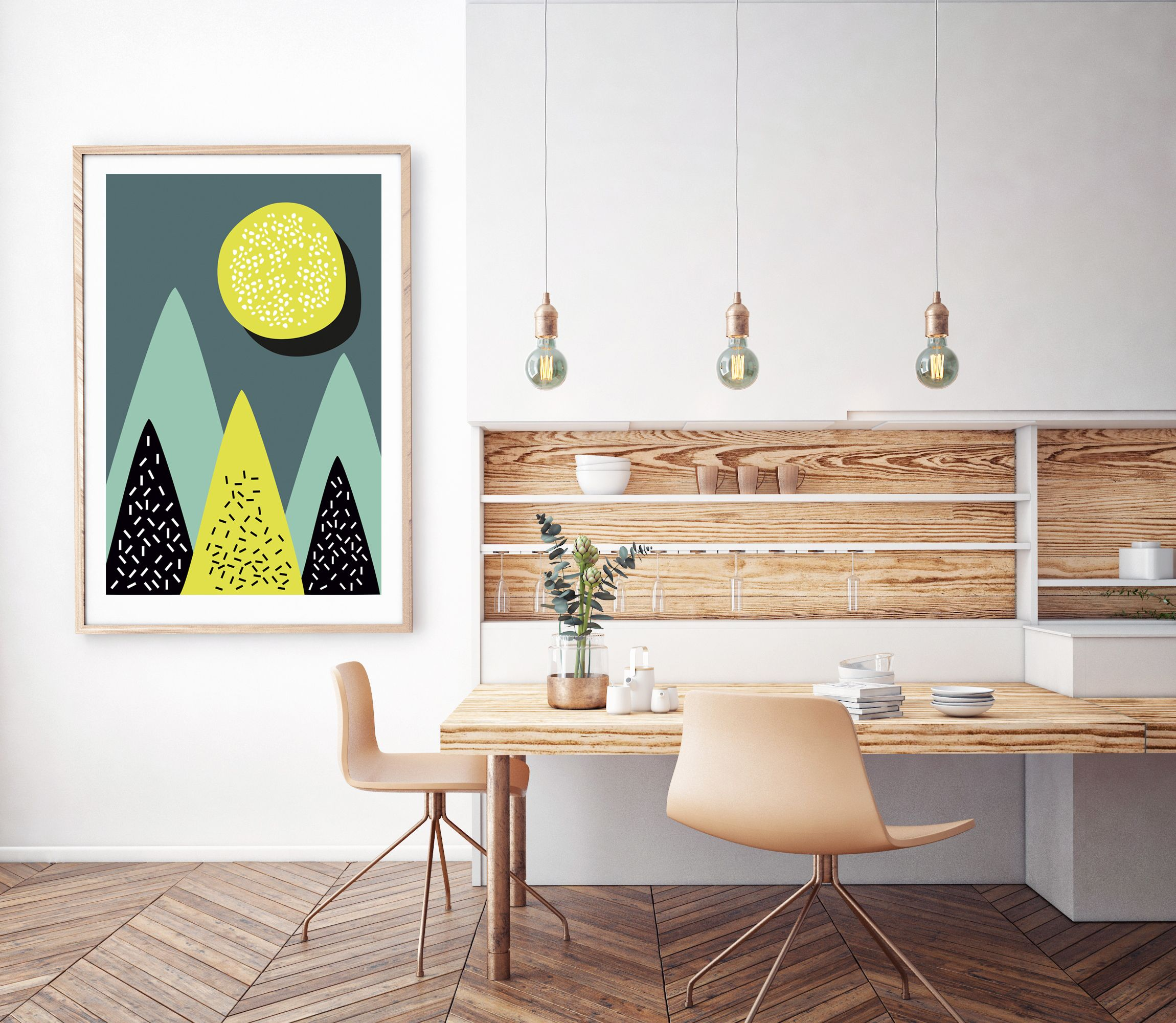 Nordic Art Print, Scandinavian Wall Decor, Scandi Wall Art, Art