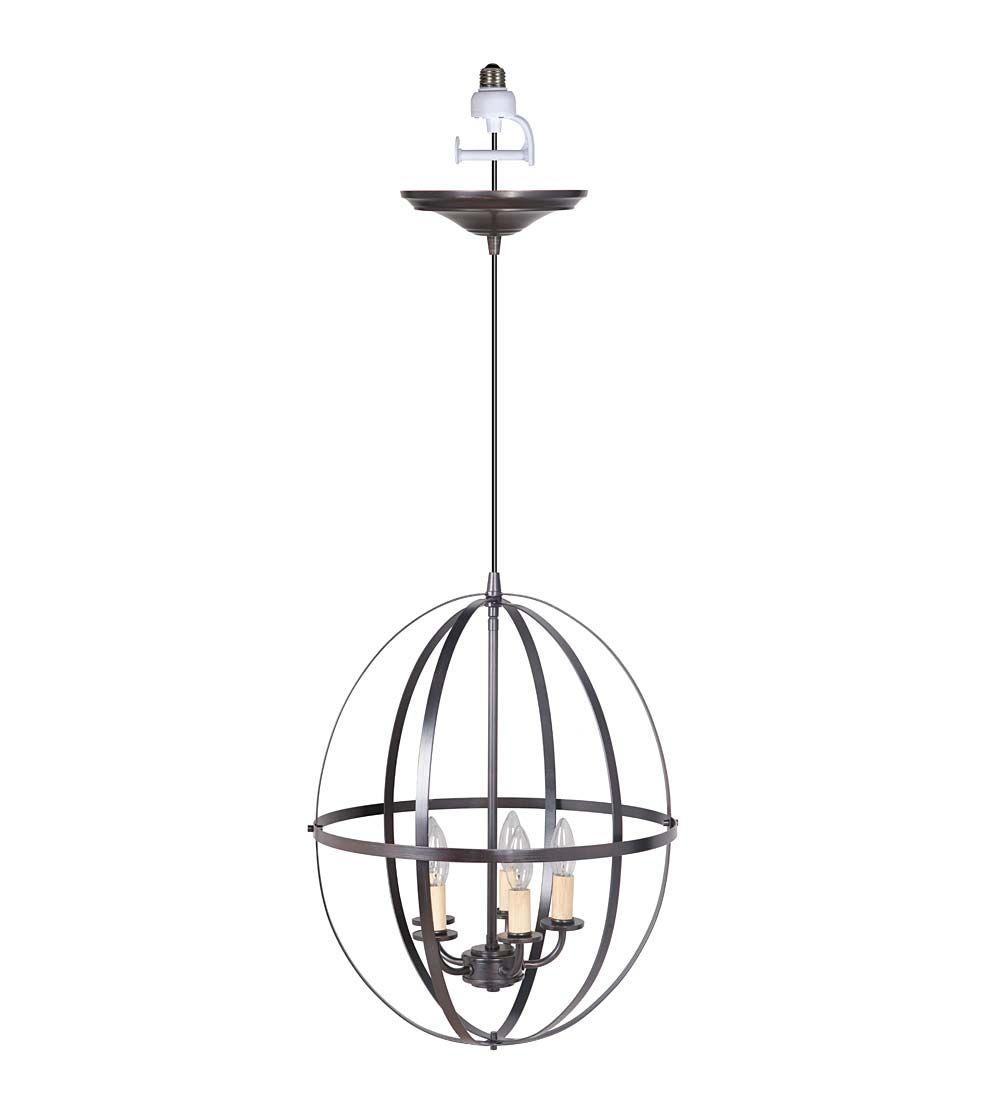 screw in pendant lighting. Screw-In Metal Sphere Pendant Light   Kitchen Lighting Screw In
