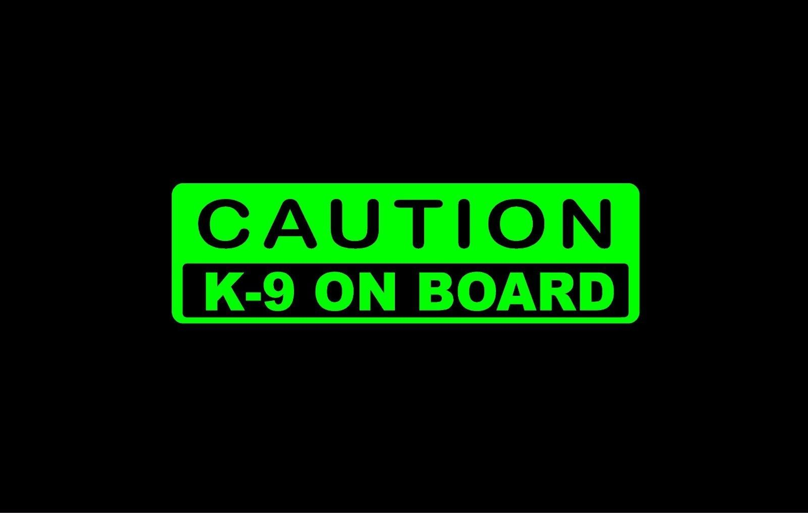 4 5 caution k 9 on board decal 3 5 x 11 7 inches car window stickers 10 colors ebay home garden