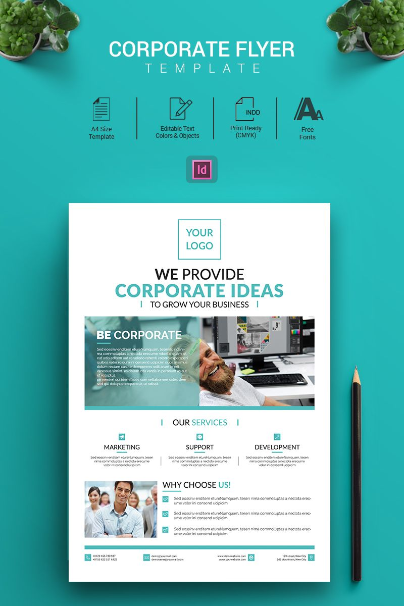 Nelson Don Indesign Flyer Corporate Identity Template Flyer Indesign Nelson Template Corporateidentity Flyer Business Flyer Templates Corporate Flyer