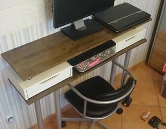 DIY Schreibtisch Mit Ikea Hack Schreibtisch,DIY,Ikea,holzlack,Holzsiegel