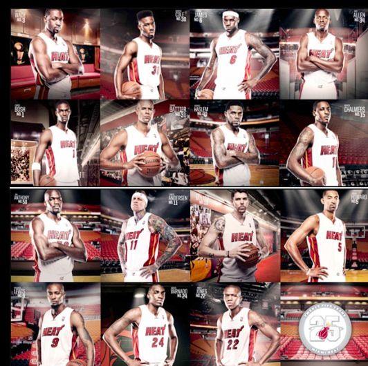 Miami Heat 2013 Roster Heat Team Nba Miami Heat Miami Heat